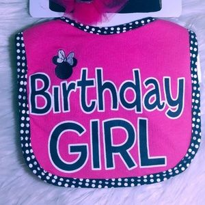 Disney Birthday Bibs Girl Minnie Mouse